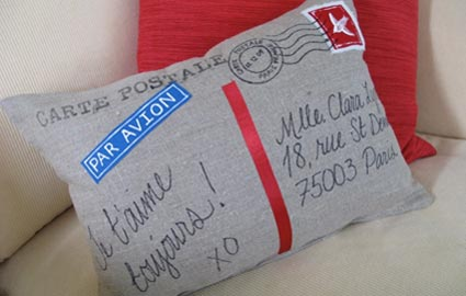 Craft a Postcard Pillow