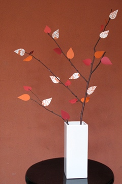 Thanksgiving craft with branches