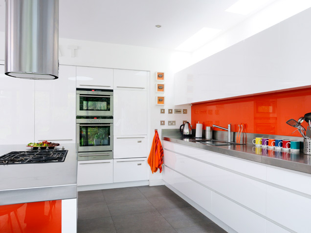 modern-orange-kitchen