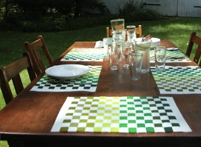 DIY woven placemats