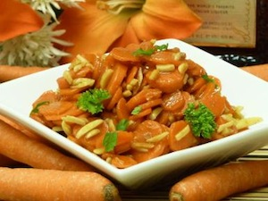 Amaretto Almond Carrots