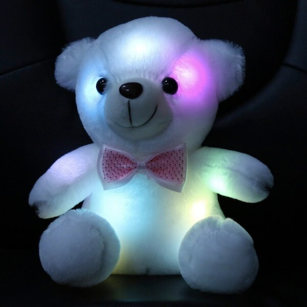 Stuffed Teddy Bear Toy with LED Night Light