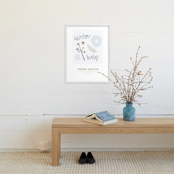 Winter Baby wall art